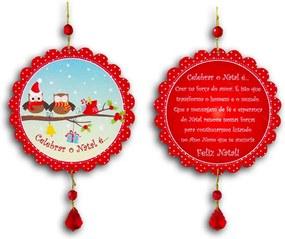 Plaquinha Móbile Bola Celebrar o Natal - 13 cm