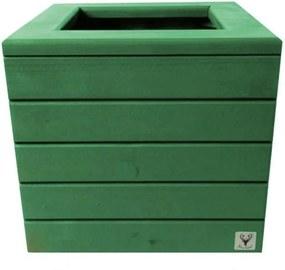 Vaso Madeira Cachepot ALCE COUCH Verde 38X40X40