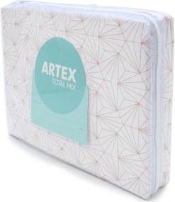 Jogo de Cama 4pçs Casal Artex Total Mix Astral Percal 150 Fios Rosa