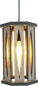 Luminária Pendente Elipse Crie Casa Marrom Pequena