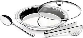 Jogo De Cozinha Aço Inox Tramontina 3 Peças Ciclo Prata
