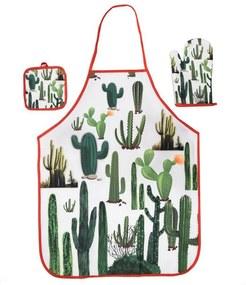 Kit Cozinha Avental, Luva e Descanso de Panela - Cactus