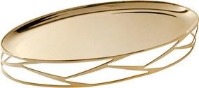 Bandeja Trama Oval Ouro 24K - Riva