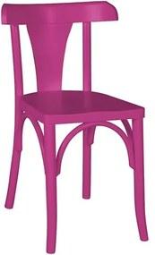 Cadeira Modri em Madeira Maciça - Roxo Magenta