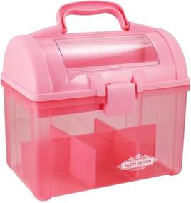 Caixa Organizadora Transparente Jacki Design Organizadores Pink