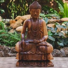 Escultura Buda em Madeira 80cm