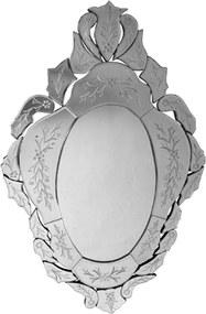 Espelho Veneziano Clássico Luis XV Com Peças Bisotadas - 120x75cm