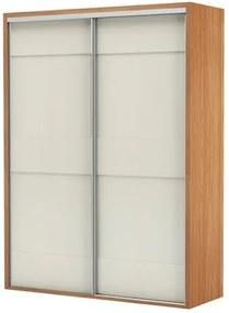 Armario Premium com 2 Portas e 2 Gavetas cor Freijo com Off White Brilho 1,79 MT (LARG) - 56452 Sun House