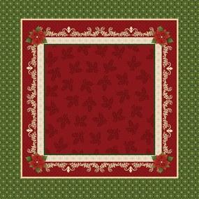 Toalha de Mesa Quadrada 75cm x 75cm Decorativa Natal Clássico