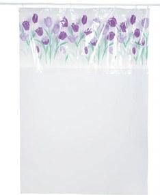 Cortina para Box com Visor Tulipas 200x135 cm