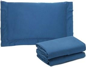Jogo de Cama 3pçs Solteiro Buddemeyer Budd Vision New Color 200 Fios Azul