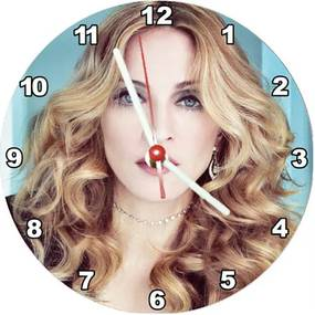 Relógio Decorativo Madonna Face Colorida