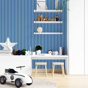 Adesivo de parede Listrado Azul e branco