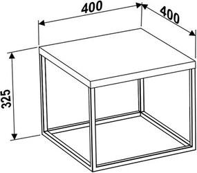 Mesa de Centro Box Pequena Estilo Industrial Faia
