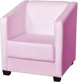 Poltrona Decorativa Valéria com Pés em PVC Corino Bebê - JS Móveis