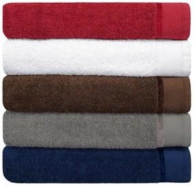 Jogo de toalha de banho 5 peças fio penteado 100% algodão 5 Cores