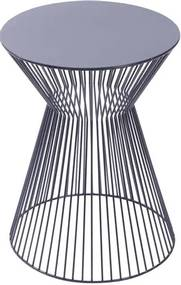 Mesa de Apoio Lupo com Estrutura e Tampo Metalico Preto - 53487 Sun House