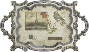 Bandeja Bird Paris de Madeira e Plástico