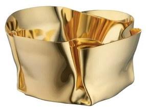 Cachepot Fiori - P - Ouro 24k  P - Ouro 24k