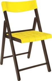 Cadeira Potenza de Madeira Tauarí Tabaco/Amarelo - Tramontina
