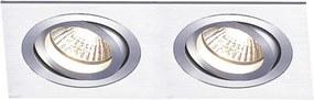 Embutido Ecco 2X PAR20 E27 Aluminio - Bella Iluminação - NS5202A