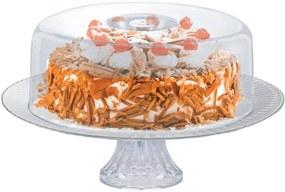 Prato de Vidro com Pé e Tampa Plástica Gourmet Ruvolo