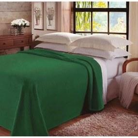 Manta King Jolitex -Lisa Color Fleece Verde Bandeira