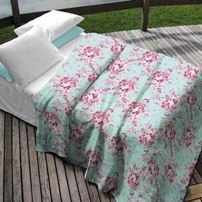 Kit Colcha Solteiro + Porta Travesseiro Teka Allegro Plus Camile Floral 2 Peças 90 Fios