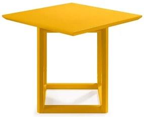 Mesa Lateral Alta Palau Madeira Maciça Amarelo