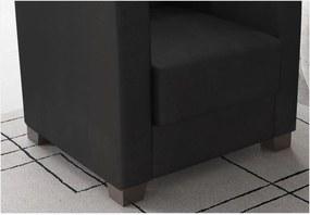 Poltrona Decorativa Valéria com Pés em PVC Suede Preto - JS Móveis