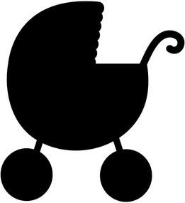 Adesivo de Parede Lousa Carrinho de Bebê