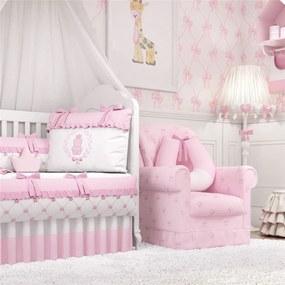 Quarto Bebê Menina Ursinha Clássica Rosa 27Pçs GrÁo de Gente Rosa