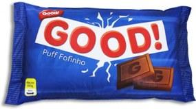 Pufe  Good Pufes  Pufe Almofadão Chocolate Azul