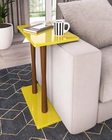 Mesa de Canto Iva 318 Amarelo - Portal Acessórios