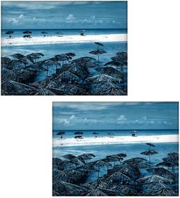 Jogo americano Colours Creative Photo Decor - Praia azul - 2 peças