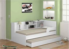 Bicama com Estante 0740 Branco Premium Multimóveis
