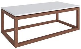 Mesa de Centro Decorativa Oreo Amêndoa/Branco - Gran Belo