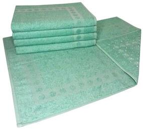 Jogo com 5 toalhas de piso com Antiderrapante Verde
