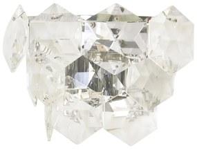 Arandela Metal Cristal Cromado