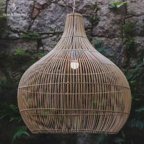 Luminária de Teto Bali 65cm | Rattan