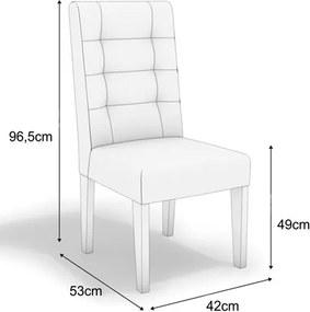 Kit 2 Cadeiras CAD111 para Sala de Jantar Walnut/Flores Bordô - Kappesberg