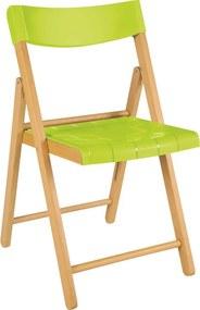 Cadeira Potenza de Madeira Tauarí Evernizada/Verde - Tramontina