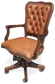 Cadeira com Braço Giratória Inglesa Capitonê Ajuste de Altura e Relax Design de Luxo