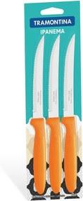 Conjunto facas para churrasco 3 peças - Ipanema - Cor Laranja - Tramontina