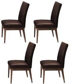 Conjunto 4 Cadeira Decorativa Luana Couríssimo Marrom