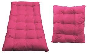 Kit Almofadas para Poltrona e Puff Costela Corano Pink - ADJ Decor