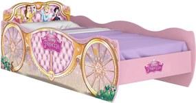 Cama Princesas Disney Star Rosa Pura Magia