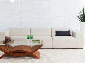 Sofá de Couro Luc Branco