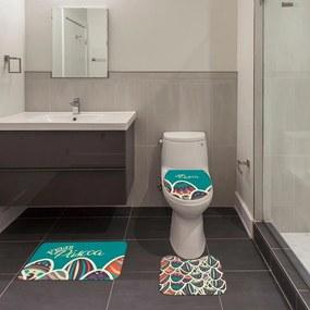 Jogo de Banheiro Páscoa Feliz Páscoa VerdeÚnico