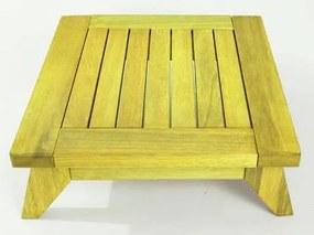 Banco Meditação Zen Pequeno Estrutura Amarelo + Almofada 45cm - 61672 Sun House